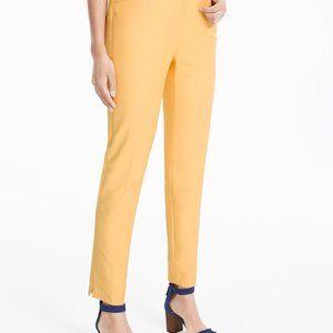 White House Black Market Slim Ankle Pant Yellow 6
